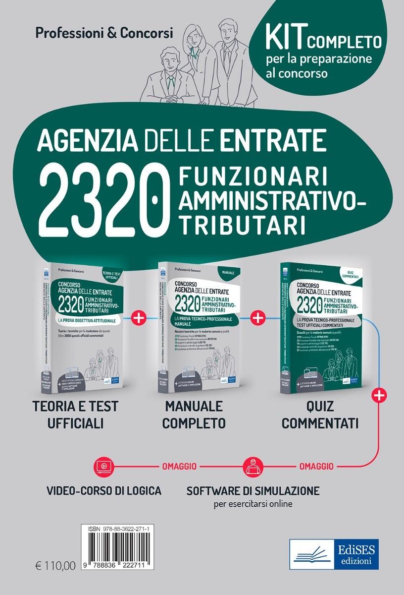 Kit concorso 2320 Funzionari Agenzia delle Entrate: prova attitudinale e tecnico-professionale