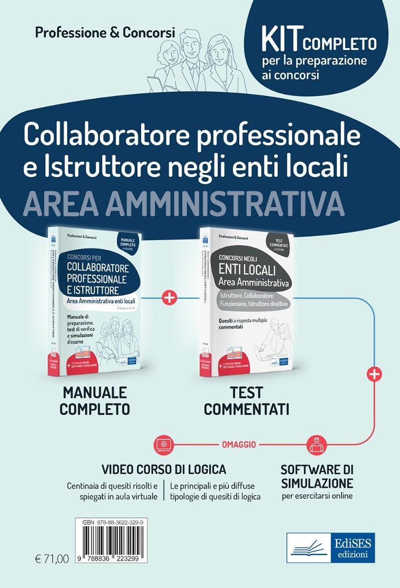 Kit concorsi Collaboratore professionale e Istruttore negli enti locali - Area Amministrativa