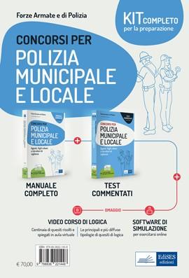 Kit completo Concorsi Polizia municipale e locale