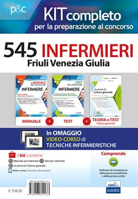 Kit concorso 545 Infermieri Friuli Venezia Giulia