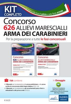 Kit Completo Concorso 626 Allievi Marescialli Carabinieri