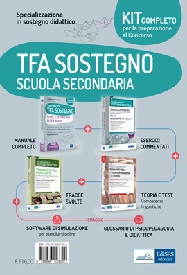 Kit completo Specializzazione Sostegno didattico Scuola Secondaria 2021