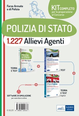 Kit Concorso 1.227 Allievi Agenti Polizia di Stato