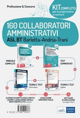 Kit concorso 160 Collaboratori amministrativi ASL BT Barletta-Andria-Trani