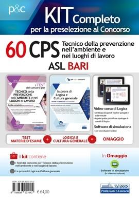 """Kit Concorso 60 CPS """"Tecnico della prevenzione nell'ambiente e nei luoghi di lavoro"""" ASL Bari"""