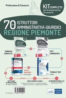 Kit concorso 70 Istruttori amministrativi-giuridici Regione Piemonte