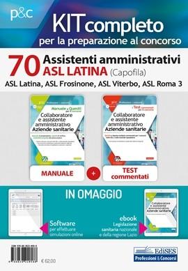 Kit Concorso 70 Assistenti amministrativi ASL Latina